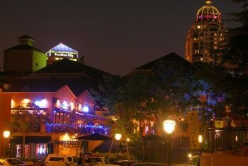 Night time in Sandton, Johannesburg, Gauteng